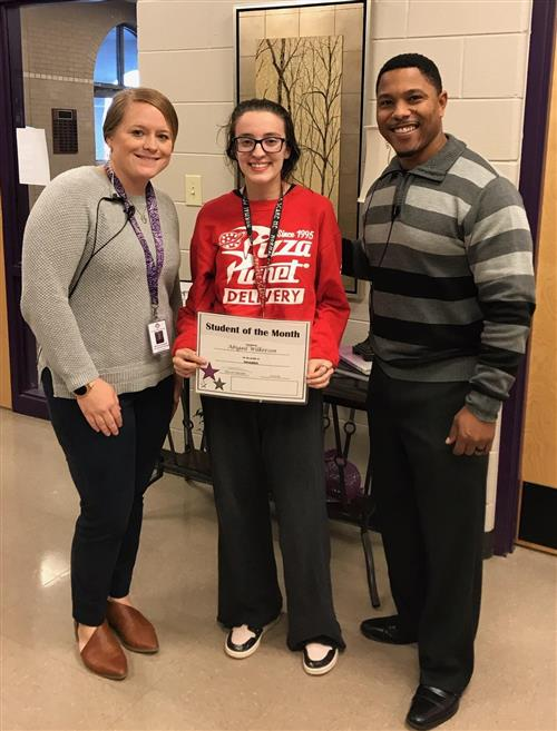 Abigail Wilkerson LHS student of the month for November