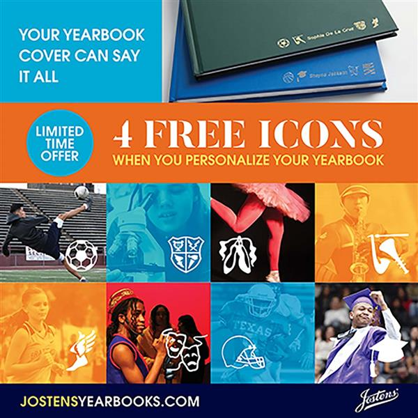 Get four free icons when you personalize your yearbook