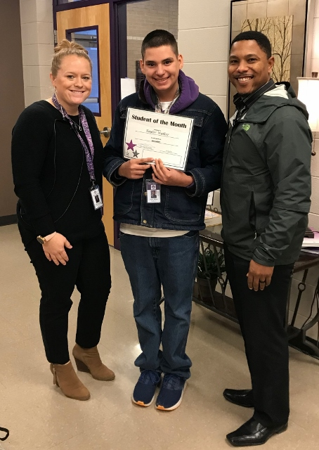 Taylor Walker LHS student of the month for November