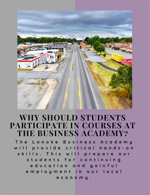 Why should students participate in course at the Business Academy?